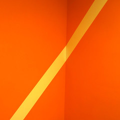 In a Corner (YIP2) Tags: inside abstract minimal lines simple detail minimalism surface line wall graphical pattern graphic facade accidental urban details architecture black white less linea geometry design square stripes carre construction repetition urbandetail orange two