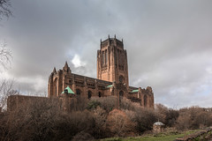 Liverpool Cathedral (Philip Brookes) Tags: church cathedral liverpool merseyside england britain cloud sky tree grass sandstone tower building architecture