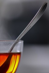 Ready to Drink (haberlea) Tags: home athome cup tea drink spoon metal glass