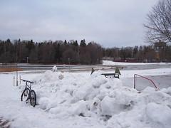 2019 Bike 180: Day 53, March 18 (olmofin) Tags: 2019bike180 finland espoo otsolahti bicycle polkupyörä snow ice lumi jää lumix 20mm f17