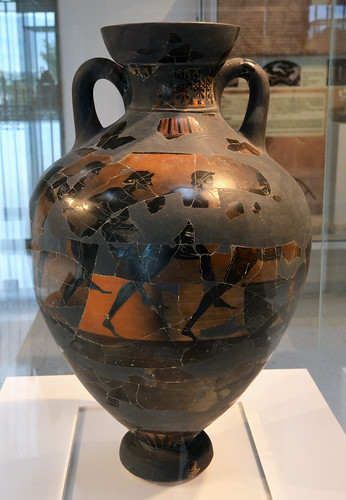 Burned Panathenaic amphora found at Isthmia, 2