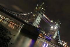 078/365/2019: Tower Bridge (Mrs Daisy) Tags: london bridge towerbridge thames lowtide nightphotography longexposure lighttrail