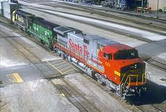 AT&SF C44-9W 619 (Chuck Zeiler 64) Tags: atsf c449w 619 railroad ge locomotive springfield train chuckzeiler chz
