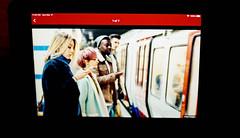 ipad / digital news / london (bluebird87) Tags: ipad news woman people film dx0 c41 nikon f5 lightroom