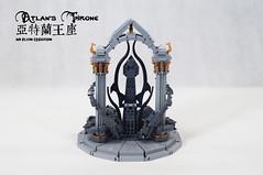 Atlan's-Throne08 (BrickElviN) Tags: lego moc dc aquaman castle ruin throne trident