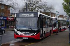 IMGP8699 (Steve Guess) Tags: stationroad tescos addlestone surrey england gb uk falcon telling buses alexander dennis enviro 200 mmc yx68ulr kx12ato