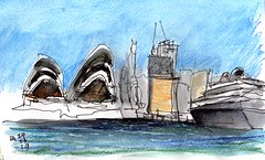 Sydney Harbour Ferry - Opera House and CBD (panda1.grafix) Tags: sydneyharbour operahouse ampbuilding circularquay cityscape cbd