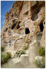 Cavate Cliff Dwelling (our cultural archives) Tags: mainlooptrail bandeliernationalmonument cavatecliffdwelling ladder frijolescanyon ancestralpueblo archeologicalsite volcanictuff travelphotography nativeamericanculture newmexico losalamosnewmexico southwest
