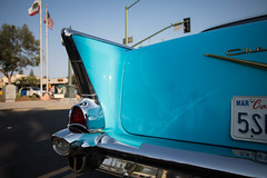1957 Chevrolet Bel Air (Photos By Clark) Tags: subjects california vehicles canon5div unitedstates location northamerica canon1740 locale places where escondido us 1957 icon chevrolet 4door blue classic vehicle restore collect show display thesandiegoist