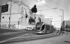Jerusalem January 1, 2019 (Ilya.Bur) Tags: nicca 3 voigtlander skopar 35mm f25 fujifilm acros 200 caffenolcl jerusalem tram light train oldcity