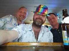 Party Gang (Toni Kaarttinen) Tags: usa unitedstates florida wpb america lakeworth lw palmbeachcounty man guy beard bear selfie hairy scruff men pals friends hat beer thanksgiving