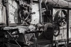 Gears and such (hutchphotography2020) Tags: gears machinery chains wheels rust rottenwood mono blackandwhite nikon