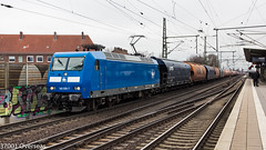 Press 145 085 on DGS 49385 at Hannover Linden (37001 overseas) Tags: hannover hannoverlinden linden press 145085 145030 1450857 1450307 dgs 49385 brake unterweser decin vtg wascosa tagnpps