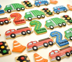 Transportation Birthday Cookies (kelleyhart) Tags: birthdaycookies sugarcookies customcookies kelleyhart firetruck trafficlight transportationcookies kidsbirthday secondbirthday 2ndbirthday