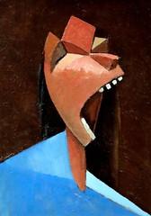 IMG_5389 Julio Gonzalez 1876-1942. Paris Tête criante Head shouting. Cabeza gritando.  1939.  Barcelone  Museu Nacional d'Art de Catalunya (MNAC) (jean louis mazieres) Tags: peintres peintures painting musée museum museo espagne spain espana barcelona museunacionaldartdecatalunya mnac