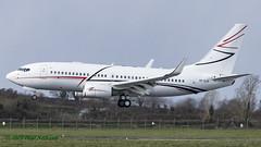 VPCLR Boeing BBJ Lukoil (Anhedral) Tags: airliner airplane vpclr boeing 737 737700 bbj lukoil corporate landing einn snn shannonairport