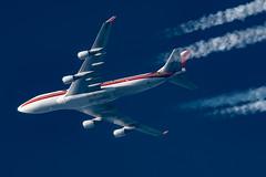 Kalitta Air Boeing 747-4H6(BCF) N741CK (Thames Air) Tags: kalitta air boeing 7474h6bcf n741ck contrails contrailspotting