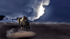 Lonely friends (Ladmilla) Tags: games videogames creed assassinscreed horse warrior knight egypt egyptian desert sand dust sky fire armour clouds landscape art