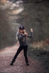 Dance away (Arnas Lucinskas) Tags: girl child dance inthewoods woods forest belomo petzval portrait onthemove action movement feelinggood happiness