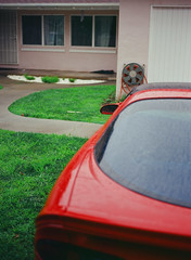 Sunnyvale, California (bior) Tags: pentax645nii pentax645 6x45cm slidefilm mediumformat 120 sunnyvale california suburbs residential ektachrome kodakektachrome e100vs ektachrome100vs expiredfilm car house driveway