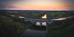 Water Crossing (Pascal Riemann) Tags: altefahrt deutschland brücke lippe architektur landschaft panorama olfen natur fluss architecture bridge germany landscape nature outdoor river nordrheinwestfalen de