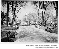 circa  1905  washington park  looking towards  Northern Blvd.  before  the Soldiers and Sailor Monument was established. (albany group archive) Tags: early 1900s old albany ny vintage photos picture photo photograph history historic historical