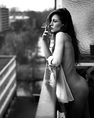 A wise girl knows her limits-A smart girl knows she has none ~Marilyn Monroe Olga margreta summer of '18 by @imtiazwillems Amersfoort Home (olgamargreta) Tags: blackandwhite bnw black smoke balcony implied olgamargreta model photography impliedportraits uncoverme outdoor dutch dutchmodel thenetherlands freedom home