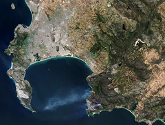 Cape fires (europeanspaceagency) Tags: esa europeanspaceagency space universe cosmos spacescience science spacetechnology tech technology earthfromspace observingtheearth earthobservation earthexplorer satelliteimage copernicus sentinel africa westerncape southafrica sentinel2 kogelbergnaturereserve fire capepeninsula falsebay smoke