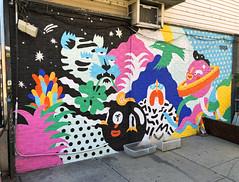 Celestial Hooligans by Brolga (wiredforlego) Tags: graffiti mural streetart urbanart aerosolart publicart williamsburg brooklyn newyork nyc ny brolga