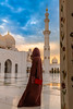 Woman-in-abaya-Grand-Mosque-sunset-gazing-vertical.jpg (yobelprize) Tags: 2018 east muchang sunsetsky yobelmuchang robes tourist emirates abayafashion religious united abudhabi islam worship dome arches zayed sunset outdoors redpurse culture abaya temple traditional abu pillars famous domes nikon grand architecture nightphotography landmark reflections muslim gold silhouette dhabi middle islamic religion mosque blue symmetry uae illuminated hood nikond850 jedi sheikh grandmosque arabic yobel arab abayawoman