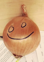 54/365/8 (f l a m i n g o) Tags: 2019 16th february saturday produce onion draw drew smile face happy 365days project365
