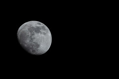 Waxing Gibbous 90% (John Brighenti) Tags: moon satellite craters celestial luna lunar night evening sky dark astro astrophotography space universe object orbit natural nature geology glow mare seas man neighbor rockville maryland md twinbrook sony alpha a7rii ilce7rm2 emount femount shooter ilce nex sel70300g gseries g lens zoom