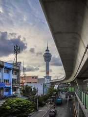 Pak Nam Observation Tower and BTS Track (hathaway_m) Tags: photowalk 80 paknam observationtower bfs