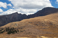 Mount Bierstadt from the Guanella Pass Summit - Between Grant and Georgetown, Colroado (BeerAndLoathing) Tags: 2018 usa clouds mountains rockymountains 77d outdoor colorado sky guanellapass canon fall september bluesky canoneos77d