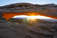 Mesa Arch (colincromar) Tags: lanscape arch mesa outdoors outside canyonlands utah ultrawide wide angle sunrise orange glow hiking backpacking adventure explore morning red sun star 1635 zeiss rock geology national park public land canyon icon iconic desert moab classic earth