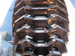 Vessel Stair Case Sculpture Dingus at Hudson Yards 4102 (Brechtbug) Tags: 2019 march visiting the vessel sculpture hudson yards tower near 34th street midtown manhattan new york city nyc 03172019 west side construction center cityscape architecture urban landscape scape view cityview shadow silhouette december close up skyline skyscraper railroad rail yard train amtrak tracks below grown stair stairs buildings above staircase dingus