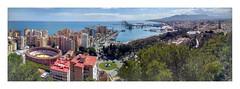 Malaga panorama (AurelioZen) Tags: europe spain andalucia málaga coast pano harbour touristicurbanisation gibralfaroview panorama