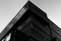 DSC_5442 geometry architecture - b&w photography (Filip Patock) Tags: geometry architecture abstract modern high contrast glass facade blackwhite bw photography artistic lines manchester england uk urban