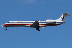 N824AE | Embraer EMB-140LR | American Eagle (cv880m) Tags: newyork laguardia lga klga aviation airliner airline aircraft airplane jetliner airport n824ae embraer erj em3 emb140 erj140 aal aae american americaneagle ttail envoy