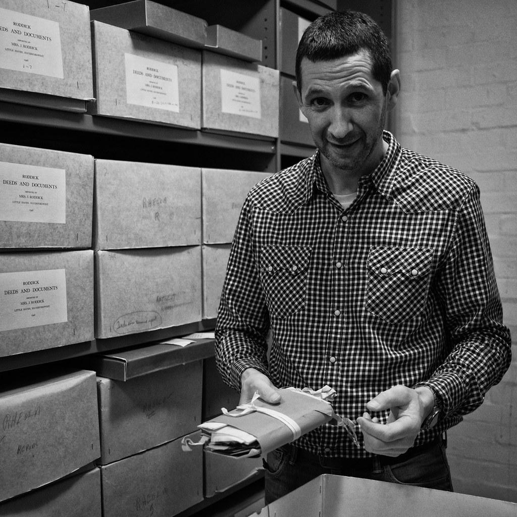 Huw (evans.photo) Tags  archives librarian ceredigionblackwhite  llyfrgellgenedlaetholcymru nationallibraryofwales library workplace portrait 40285e86b