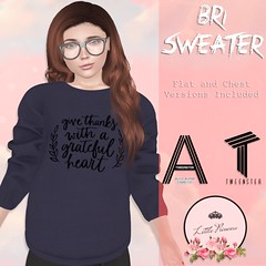 Bri Sweater - Give Thanks - AD (AmaraRevven) Tags: second life tween tweenster kids little princess new fitted mesh unisex boys girls release event boutique explorers