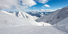 Ski Ischgl, Austria (jamesalexandermichie) Tags: snow skiing austria ischgl ski skier snowy landscape sky blue white