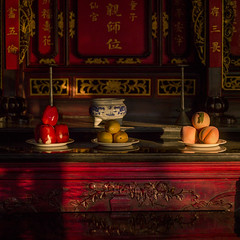 Fruits In A Temple, Jianshui, Yunnan Province, China (Eric Lafforgue) Tags: a0006309 asia carving china chineseculture colorpicture fruit history house jianshui nopeople old outdoors religion square temple traditionalculture yunnan yunnanprovince