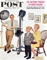 """At the Photographer"" (Retro Reveries) Tags: saturdayeveningpost post cover art illustration kurtard ard funny humor 1950s magazinecover postcover 1959 photographer bubblegum boy midcentury"
