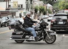 "2017-06-03 (17) crossing from alley to alley in Gettysburg PA (JLeeFleenor) Tags: photos photography pa gettysburgpa gettysburg pennsylvania town downtown street motorcycle bike ""αυτοκίνητο ποδήλατο"" μοτοσυκλέτα 摩托车 机车 摩托車 機車 ""دراجة نارية"" نارية صغيرة"" بموتور"" motocicleta мотоцикл motosiklet motocicletta motocyclette moto motorrad ""オートバイ"" אופנוע black harley sunglasses"
