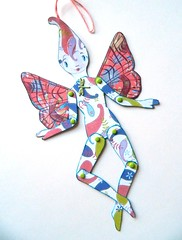 Fairy (JuliaPeculiart) Tags: fairy fae faery faerie sprite elf paperdoll paper doll jointed articulated handmade juliapeculiar fantasy puppet