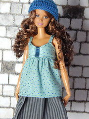 """Sweetheart collection - shirt """"Spring Sky"""" (Levitation_inc.) Tags: ooak doll handmade dolls outfit fashion fashions levitation levitationfashion sweetheart spring 2019 royalty poppy parker barbie cute romantic"""