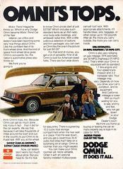 1978 Dodge Omni 5 Door Hatchback Chrysler Corporation USA Original Magazine Advertisement (Darren Marlow) Tags: 1 7 8 9 19 78 1978 d dodge o omni h hatchback c chrysler car cool collectible collectors classic a automobile v vehicle u us usa united states american america 70s