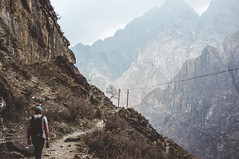 On the trail (liamthompson191296) Tags: china hiking trekking trek walk trail road mountains wild nature travel
