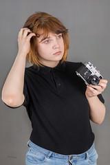 Michalina (piotr_szymanek) Tags: michanlina woman young face portrait studio hand redhead vintagecanera piercing nosepiercing eyebrowpiercing lipspiercing 1k 5k 20f 10k